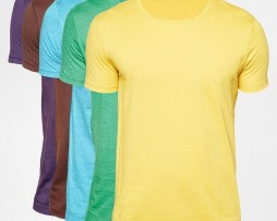 T-Shirt With Crew Neck 5 Pack
